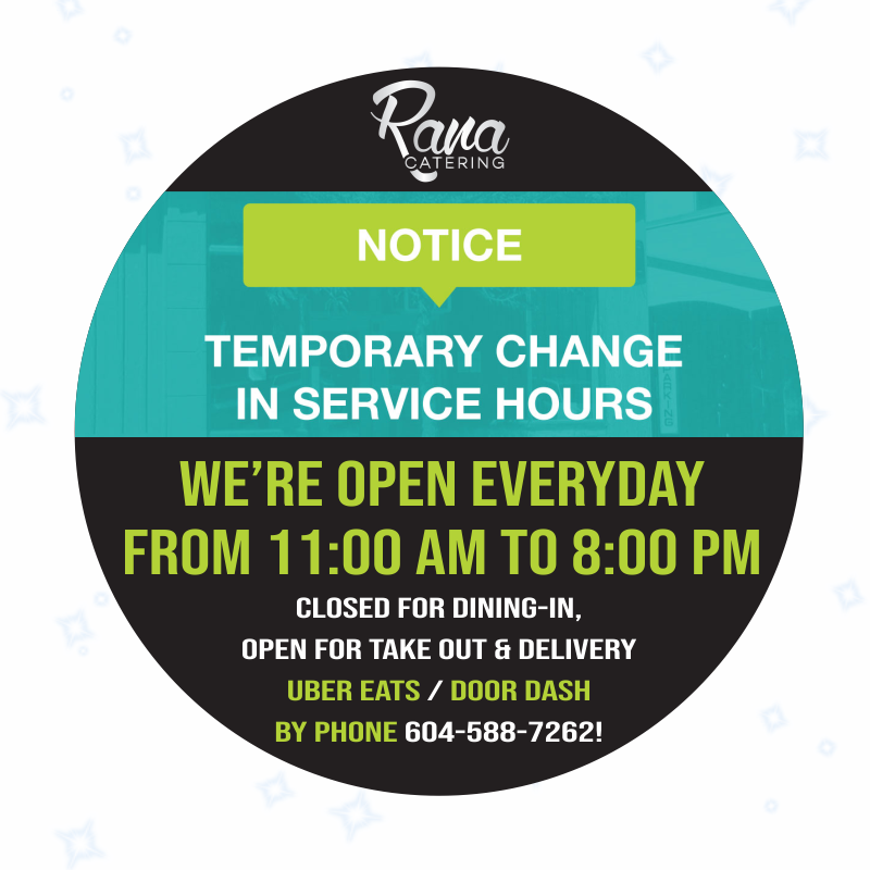 Covid-19 Update – New Hours